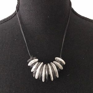 Jewelry - Artsy Hand Blown Glass &Leather Necklace